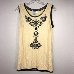 Roper Embroidered Tank Top with Rhinestones Sz L